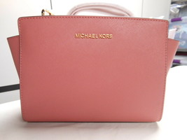 Michael Kors Selma Rose Leather Crossbody/Messenger Bag/Satchel - Medium - NWT - $149.00