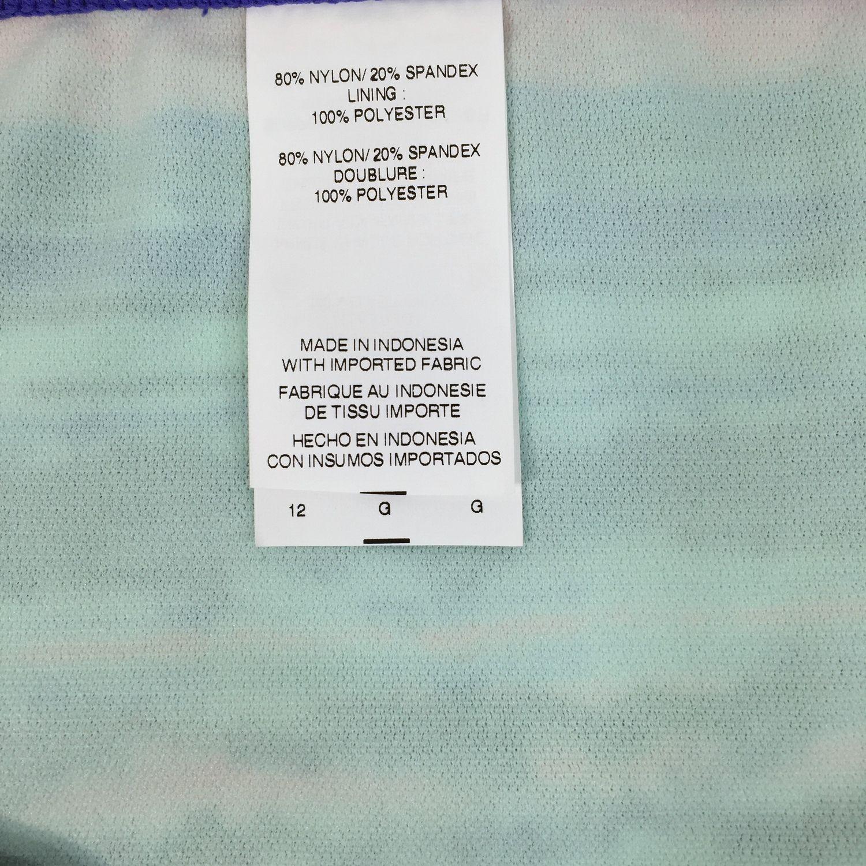 Nike Womens Size 12 Bikini Swim Suit Bottom Black Purple Coral NESS5243 New