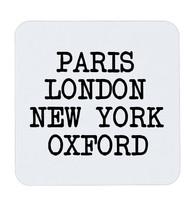Paris London New York Oxford University Funny City England Coffee Coaste... - $5.17