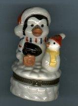 SANTA PENGUIN  & SNOWMAN HINGED BOX - £8.45 GBP