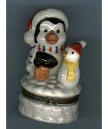 SANTA PENGUIN  & SNOWMAN HINGED BOX - $11.00