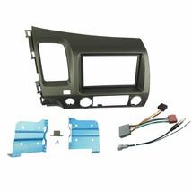 DKMUS Double Din Radio Stereo Dash Install Mount Trim Kit for Honda Civi... - $54.20