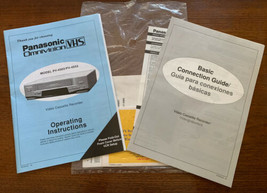 Panasonic Omnivision VCR Operating Manual for Models PV-4503 & 4553 Clean - $17.81