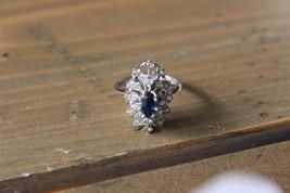 Vintage Blue Stone 18k HGE Multi Stone Ring Size 6.75 - $23.76