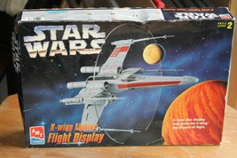 Star Wars X-Wing Fighter Flight Display Plastic Model Kit AMT/ERT 1995 #... - $17.60