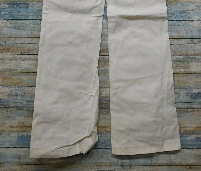 Express Editor Dress Pants 6 x 32 Women's White Straight Stretch          (D-85) image 7