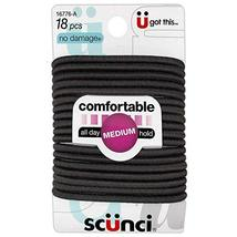 Ln Scunci NoDamage Comfortable All Day Medium Hold, (Pack of 4), Brown, ... - $5.93