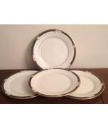 """4 Royal Doulton Vogue ENCHANTMENT Salad Bread Luncheon 8""""  Plates Excellent - $24.70"""