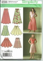 Simplicity Sew Pattern 4188 Misses Skirts Size 8-16 Length Variations  - $9.74