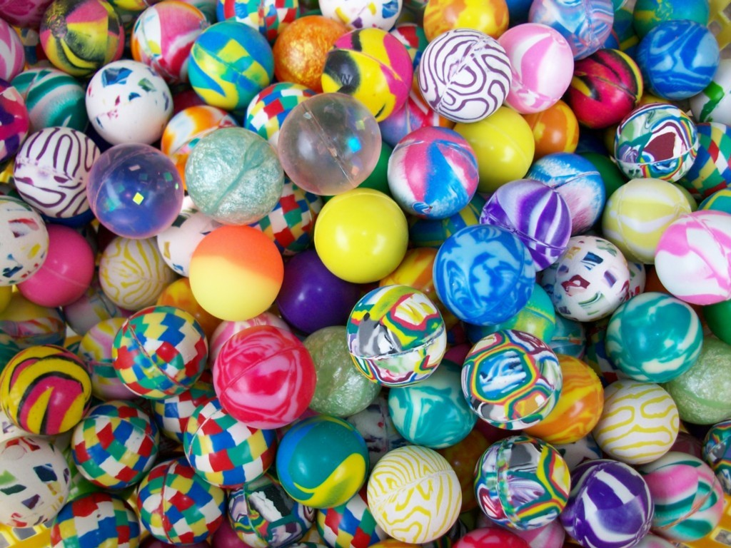 "Primary image for 100 Super Bounce Bouncy Ball 1"" Bouncing Party favors"