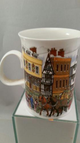 Christmastime Mug Fine Bone China Sue Scullard England Dunoon Dickens Scene