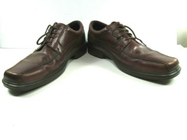 ECCO Mens Brown Leather Bike Toe Shock Point Oxfords Size US 13 EUR 47 - $38.61