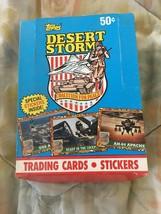 1991 Topps Wüstensturm Tauschen Series ~ Verpackung Voll mit Karten - $11.98