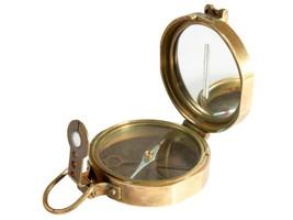 FREE SHIP: Vintage Surveyor's Compass - Solid Brass Circumferentor Instr... - $77.14