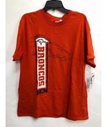 NWT NFL Men's T-Shirt Denver Broncos Cotton Short Sleeves Orange LARGE - $12.19