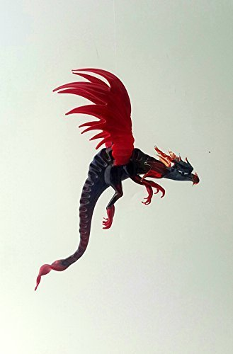 Spectacular Blown Glass Fierce Dragon Ornament Made in USA One of A Kind (Red)