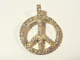 Sterling silver 925 cz Peace sign pendant - $7.00