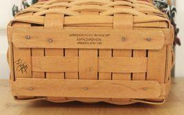 Vtg 1998 Longaberger Xmas Collection Glad Tidings Holly Berry Liner Basket w/Lid image 5
