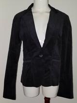NWT Calvin Klein Black Corduroy Jacket Women's Size Medium Brown Lining ... - $22.72