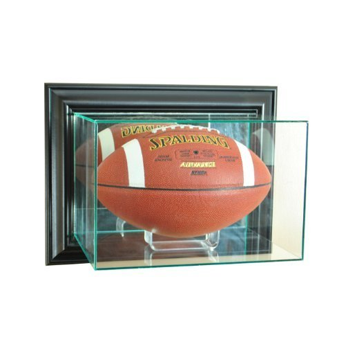 Perfect Cases NFL Wall Mounted Football Glass Display Case, Black
