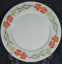 Arcopal China Wildflowers Dinner Plate(s) France Orange Yellow Floral Fl... - $14.95