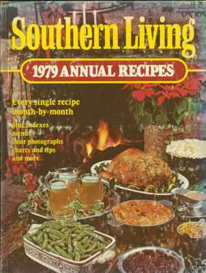 Southern Living Cookbook 1979 Annual Recipes Menu Season