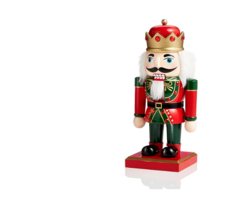 "Holiday Lane10"" Wood Nutcracker with Crown New With Tag - $39.59"