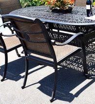 Cast aluminum wicker furniture 7 piece dining set Santa Clara outdoor patio image 5