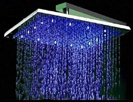 Cascada Square Rainfall LED Shower Head, Heavy Duty Metal (Without Shower Arm) ( - $392.98