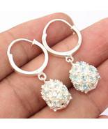 Kanika Jewelry Trove Blue Topaz 925 Sterling Silver Hoop Earrings - $26.99