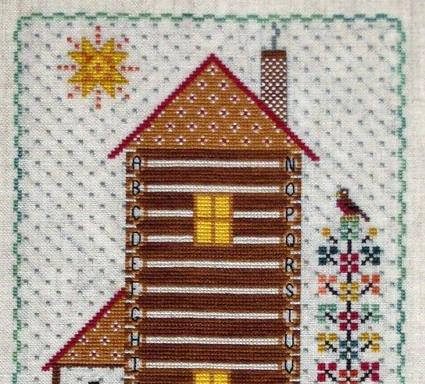 Calico Cabin cross stitch chart The Needle's Notion