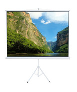 """Foldable Stand Tripod 100"""" Portable Projector Screen Diagonal HD 4:3 Office - $59.99"""