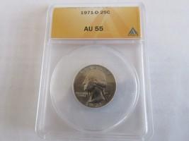 1971-D , Washington Quarter , ANACS , AU 55 - $12.00