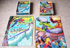 1982 MARVEL Incredible Hulk & Amazing Spiderman Puzzles by Whitman! 14''... - $29.95