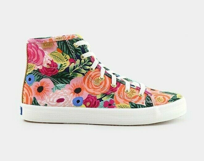 Primary image for Keds X Rifle Paper Co. WF58362 Women's Kickstart Julie High Top Sneaker, 5.5 Med