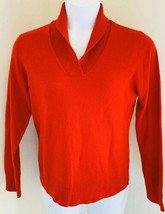 Charter Club Womens Sweater Red Size Large Cashmere 2 Ply Red V-Neck Col... - $14.95