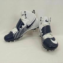 Nike Lunarbeast Strike Pro TD Football Cleats Sz 12.5 Blue and White 847549-144 - $37.86