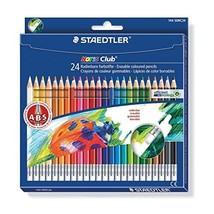 Staedtler Noris Club 144 50NC24 Erasable Colouring Pencils - Assorted Colours (P - $19.00