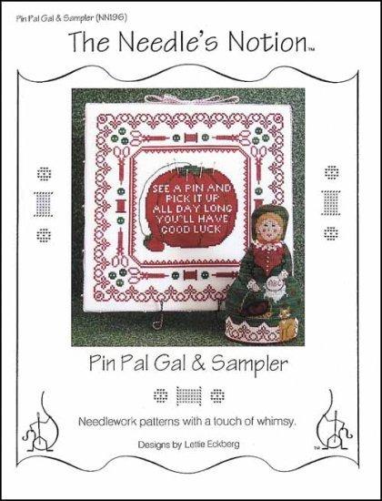 Pin Pal Gal & Sampler cross stitch chart The Needle's Notion