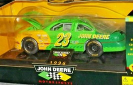 Bank Diecast with Key 1996 John Deere #23 Green Stock Car - 1:24 Scale with Box