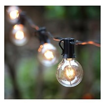 25FT G40 Globe String Light with 25 Clear Bulbs, Outdoor Market Lights f... - €16,85 EUR