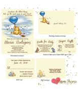 Classic Winnie the Pooh Baby Shower Invitation Set RSVP Card Diaper Raff... - $2.75+