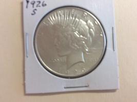 1926-S Silver Peac Dollar - $38.00