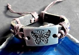 Energy Balancing Healing 7 Chakra Leather Bracelet Reiki Healing Alignme... - $10.00