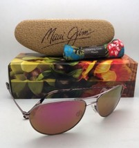 New MAUI JIM Titanium Sunglasses Baby Beach MJ 245-16R Rose Gold w/ Maui Sunrise - $299.95