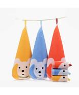 100% Cotton Square Cute Cartoon Dog Pattern Children Kid Baby Face Towel... - $2.69