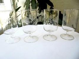 "Set of 4 Princess House Heritage Pattern Juice Glasses 4 1/2"" Tall  - $15.84"