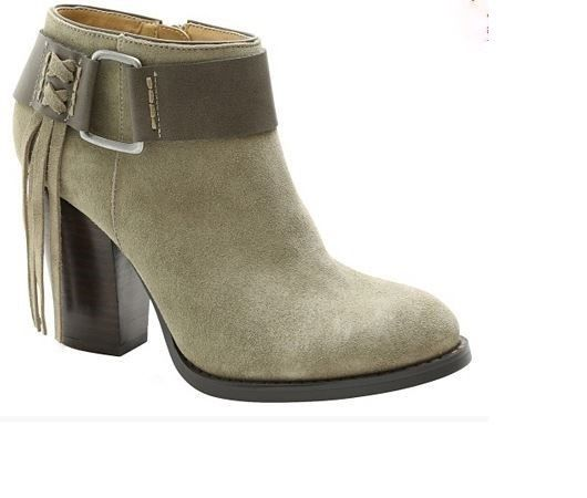 NIB Kensie Women's Massey Leather Ankle Bootie Boots
