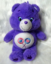 "Care Bears Share Bear 2002 Plush Stuffed Animal 13"" Purple Lollipop TCFC... - $14.95"
