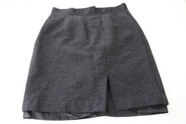 W9474 Womens Gap Charcoal Gray Wool High Waist Pencil Skirt w/Slit 8 - $15.45